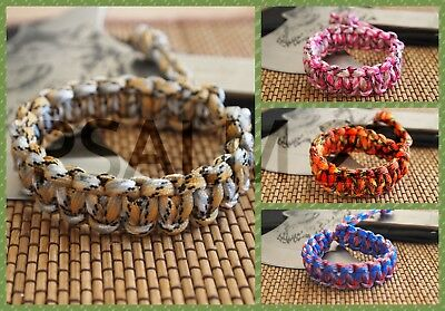 Mad Max Inspired Adjustable Paracord Survival Bracelet Wristband Camo Colors