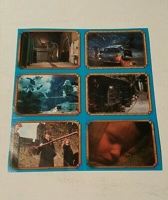 Harry potter 2002 uncut 6-card sticker sheet