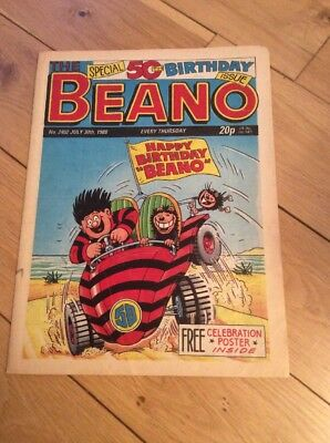 Beano No. 2402 July 30th 1988 Special 50th Birthday Issue Comic