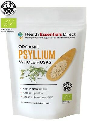 Organic Psyllium WHOLE Husks (IBS, Natural Soluble Fibre) Choose Size: