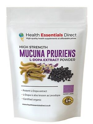 Mucuna Pruriens - High Strength Extract Powder - 40% L-Dopa/Levodopa Choose Size