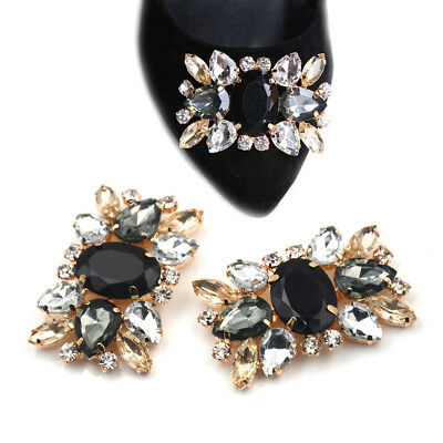 1PC Alloy Shoes Clips Rhinestone Crystal Flower Buckle Bridal Wedding Decor WQH