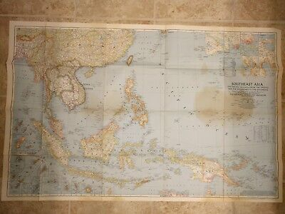 Vintage Rare National Geographic Maps from late 1940s
