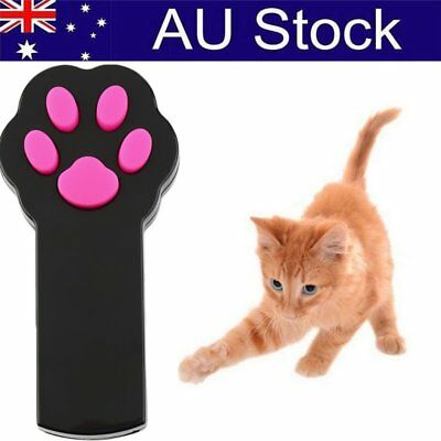 Funny Pet Cat Dog Interactive Automatic Red Laser Pointer Exercise Toy OP#