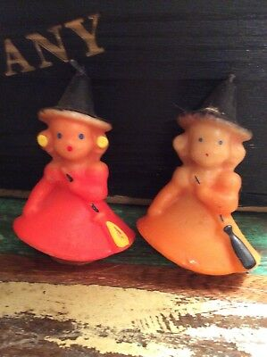 Vintage Pair Of Hurley Witch Candles