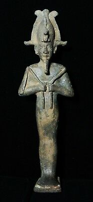 Zurqieh -As7919- Ancient Egypt. Large Bronze Statue Of Osiris.  600 - 300 B.c