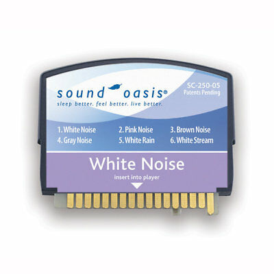 White Noise Therapy Sound Card 250 05 By Sound Oasis