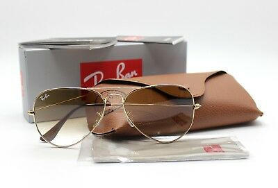 3757cfd3f1638 New Ray-Ban RB3025 001 51 Gold Brown Gradient Aviator Sunglasses 58mm