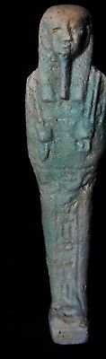 Zurqieh -As7932- Ancient Egypt. Large Inscribed Faience Ushabti. 600 - 300 B.c