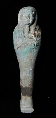 Zurqieh -As7934- Ancient Egypt. Large  Faience Ushabti. 600 - 300 B.c
