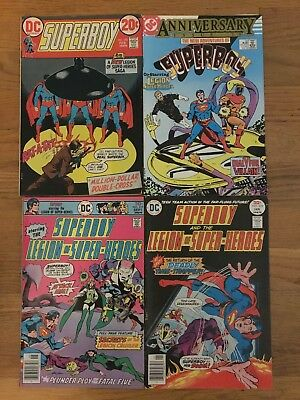 Superboy/Legion of Super-Heroes lot of 4 #193, 219, 223, New Adv #50 anniversary