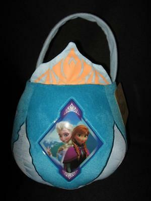 NWT Disney's Frozen ELSA & ANNA Princess Plush Halloween Treat Bucket Bag Pail