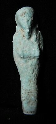 Zurqieh -As7947- Ancient Egypt. Beautiful Faience Ushabti. 600 - 300 B.c