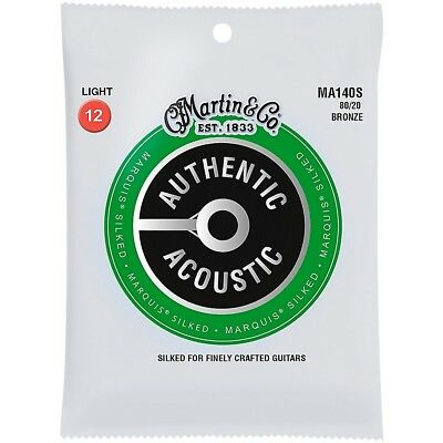 Martin MA140S Marquis 80/20 Bronze Light Acoustic Silked Guitar Strings