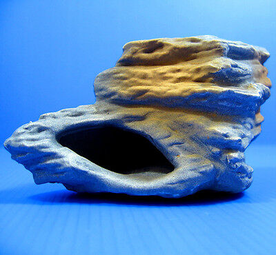 Cichlid Stone Ceramic Aquarium Rock Cave Decor for Plant Tropical Fish Tank