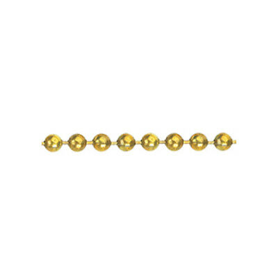 """Continuous Metal Bead Chain Loop #10 - Drop:3""""- Brass"""