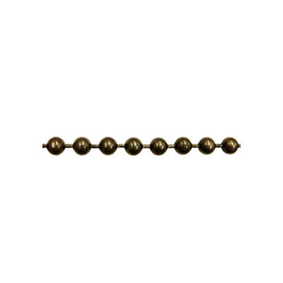 """Continuous Metal Bead Chain Loop #10 - Drop:2""""- Antique Brass"""
