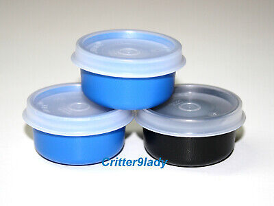 NEW Tupperware Lot of 3 Smidgets in Black and Blue
