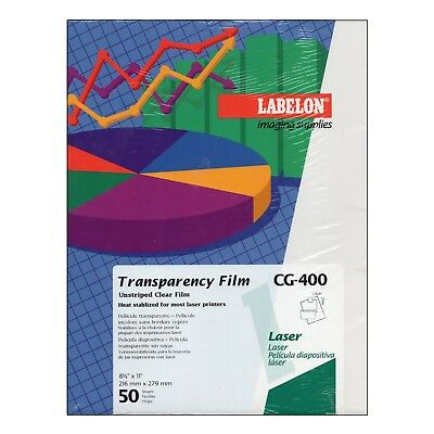 Labelon Imaging Supplies Transparency Film Laser Printers Unstriped 50 Sheets