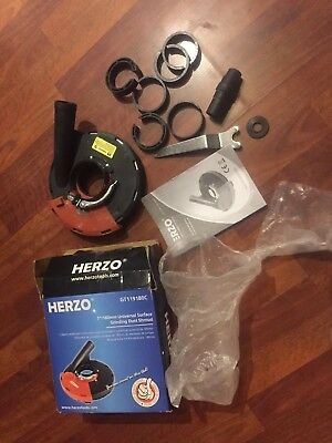HERZO Universal Surface Grinding Dust Shroud for Angle Grinder 7- Inch 7-... New