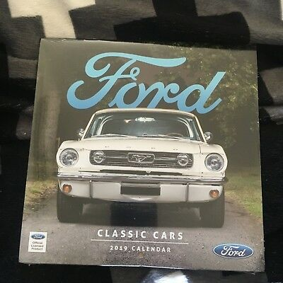 New, Wrapped. Ford Classic Cars 2019 Calendar. 18 By 18Cm