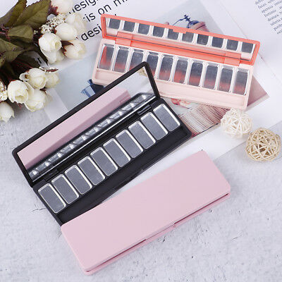 Empty eyeshadow case lipstick pans eyeshadow brushes pigment palette refillableG