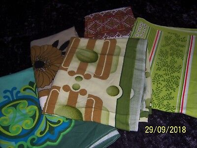 Bulk Lot of  5 Large Retro Vintage  Tablecloths large FABRIC/CUTTER