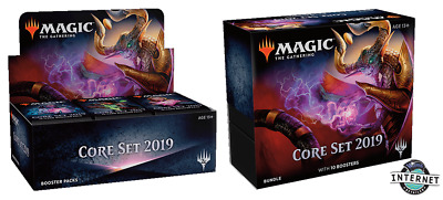 MAGIC MTG Core Set 2019 M19 BOOSTER BOX & BUNDLE FACTORY SEALED ENGLISH
