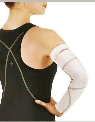 NEW Tommie Copper Women's Performance Full Arm Sleeve  XL/White