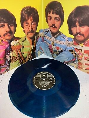 Beatles, Sgt Peppers Lonely Hearts Club Band 180G Blue Colored Vinyl Lp Gatefold