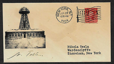 Nikola Tesla collector envelope w original period stamp 110 years old *OP1124