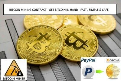Bitcoin Mining Contract 10 TH/s ( 10,000 GH/s ) BTC MINING - 720 HOURS (30 days)