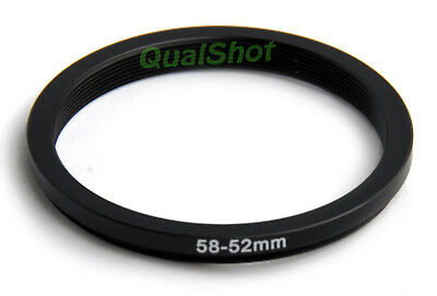 58-52mm 58mm-52mm Step-down adapter ring Anodized Black