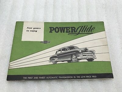 1952 Chevrolet PowerGlide Automatic Transmission Brochure Vintage