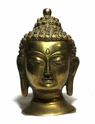 Indian Old Vintage Hand Carved Unique Brass Lord Of Buddha Collectible Br 451