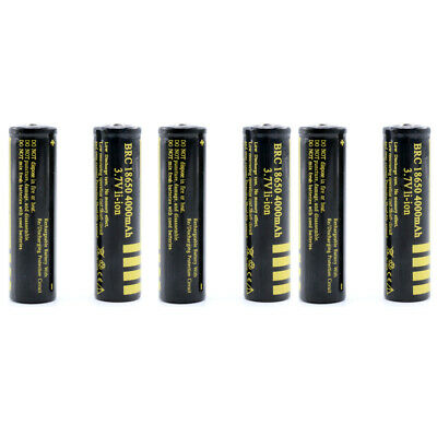 UK 18650 3.7V 4000mAh BRC Rechargeable Li-ion Battery Lithium Cells Best