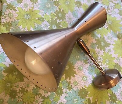 Vintage Mid Century BECO wall Light Fitting 1950s Brown Evans & Co Sconce