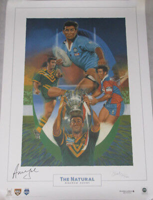 'THE NATURAL' ANDREW JOHNS  Hand Signed Ltd Etdn Print PriceWaterhouseCoopers