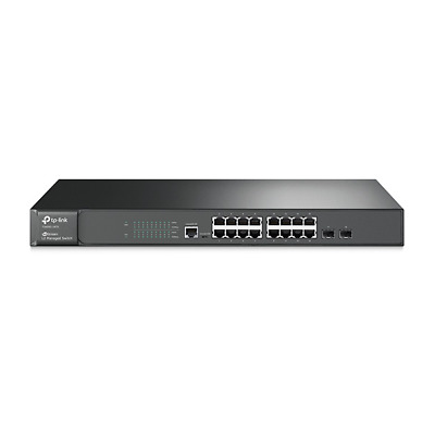 TP-LINK T2600G-18TS(TL-SG3216) 16x Port Gigabit L2 Managed Switch 2x SFP