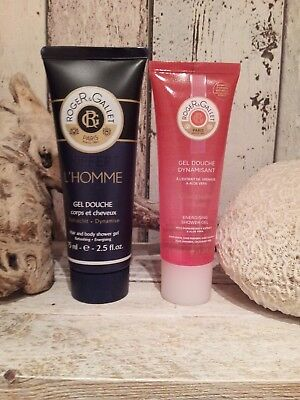 Roger & Gallet lot voyage gel douche x 4 NEUF!