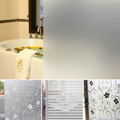 200 x 60CM Bathroom Home Glass Window Door Privacy Film Sticker PVC Frosted 000