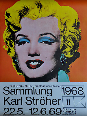 """Andy Warhol Poster /"""" Retrospective /"""" Marilyn Monroe Exhibition Poster in Mint"""