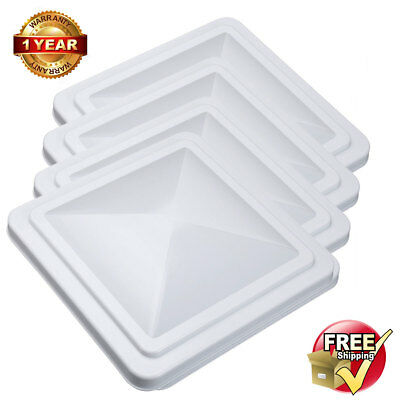 "4X RV Roof Vent Cover Replacement Vent Lid for Camper Trailer Motorhome 14""x14"""