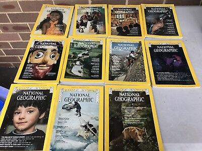 Vintage 1974 National Geographic Magazines - 11 Issues Available Feb - Dec