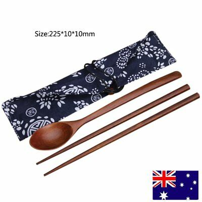 Environmental Wood Handmade Wooden Cutlery Chopsticks and Spoon Set For F4