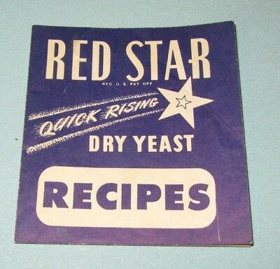 Vintage Red Star Dry Yeast Recipe Booklet Milwaukee Wisconsin Advertising
