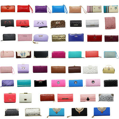 New Ladies Wallets Clutch for Women Designs Red Blue Black Purse Gift Wallet