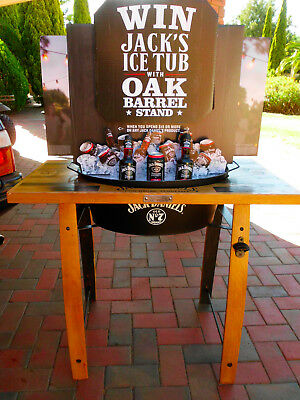 Jack Daniels Ice Tub/Oak Barrel Stand Genuine Numbered Piece- Pick Up Geelong