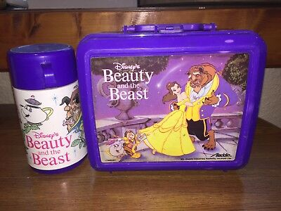 Disney's Beauty And The Beast Lunchbox And Thermos Aladdin