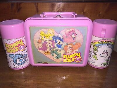 Fluppy Dogs 1986 Lunchbox And Thermos With My Little Pony Thermos